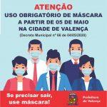 Não usar máscara é crime