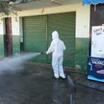 Desinfecção em Juparanã ajuda no combate ao COVID-19