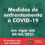 Decreto com medidas de controle ao Coronavírus